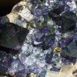 Purple fluorite from Tess quarry in Ireland