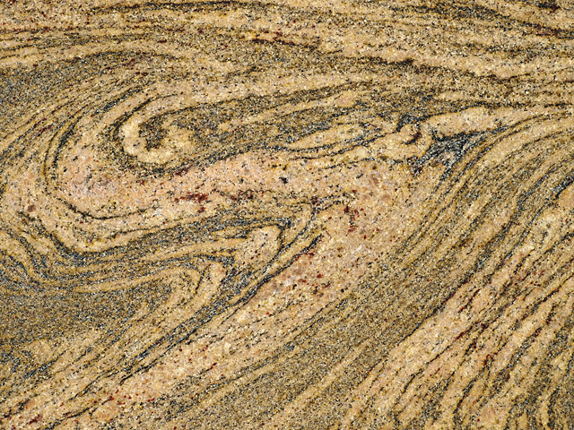 Metamorphic migmatite rock layered texture